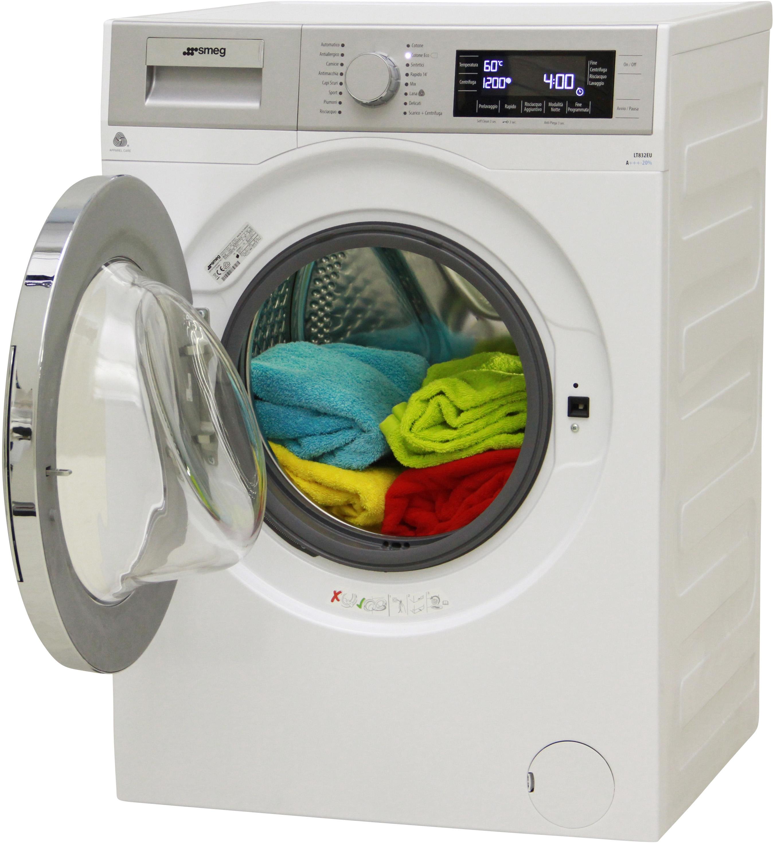 I dettagli del test sulla lavatrice SMEG LT832EU