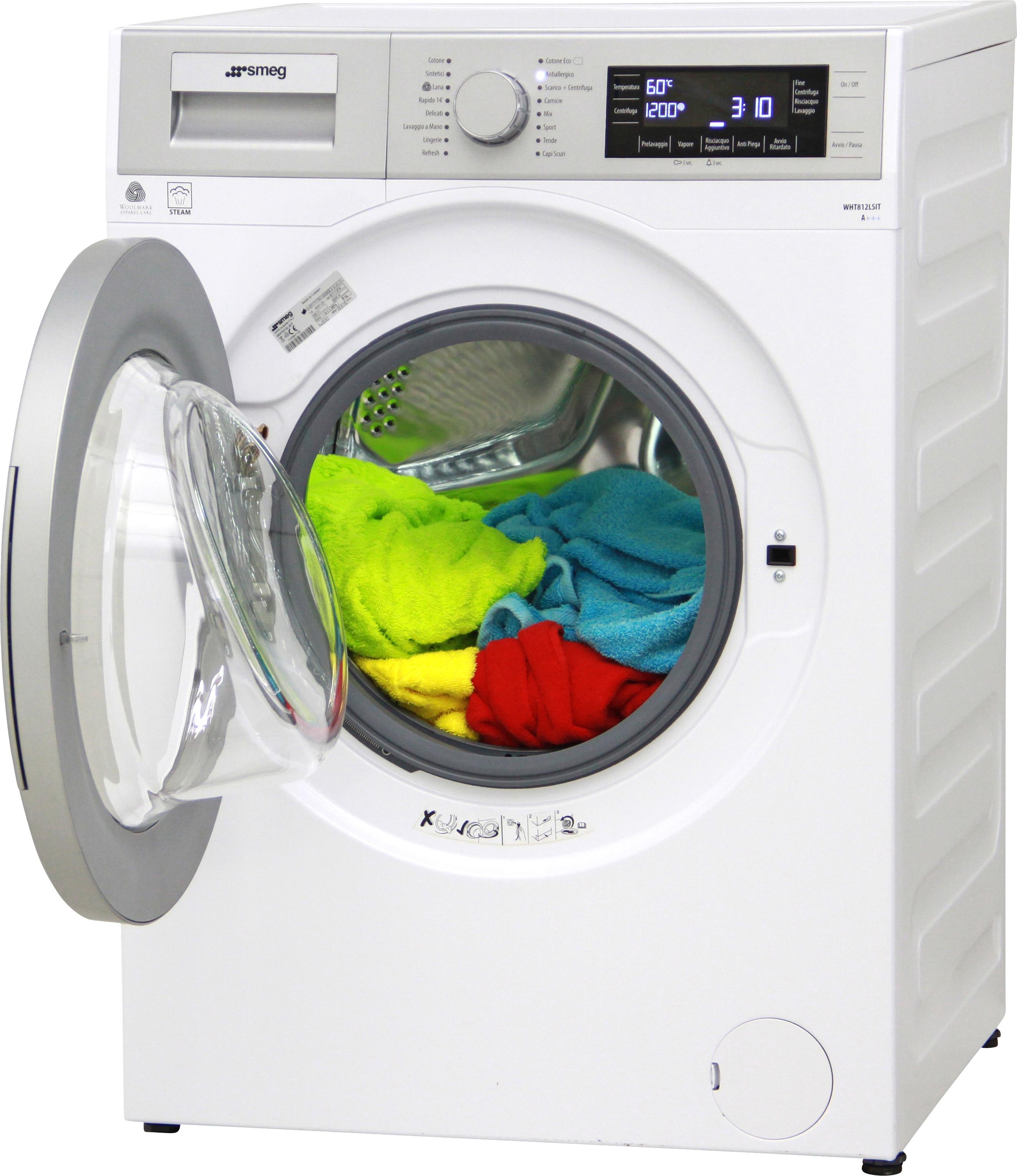 I dettagli del test sulla lavatrice smeg wht812lsit - Quiz sulla cucina ...